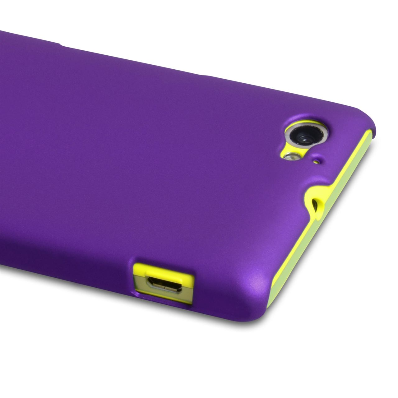 YouSave Accessories Sony Xperia M Hard Hybrid Case - Purple