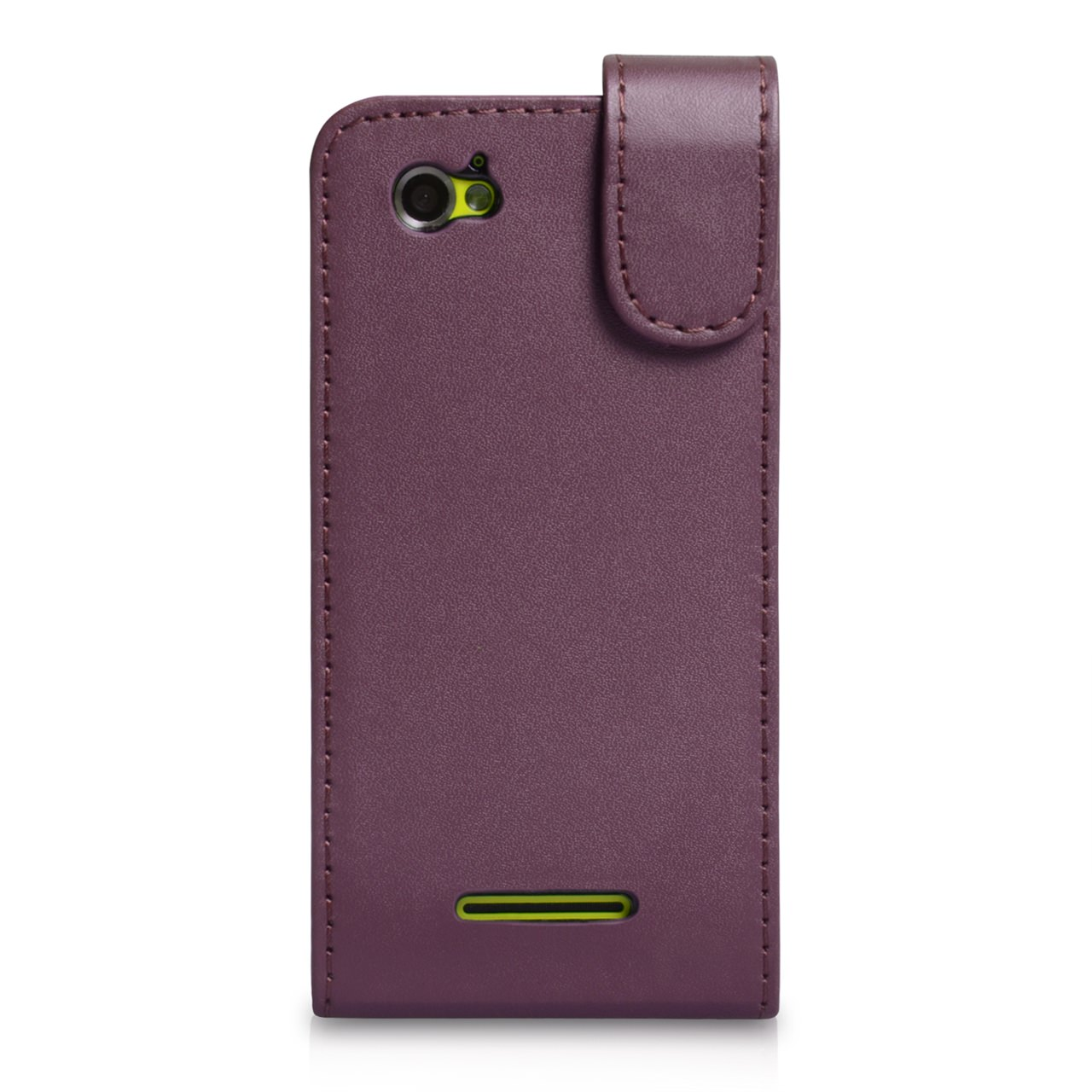 YouSave Accessories Sony Xperia M Leather Effect Flip Case - Purple