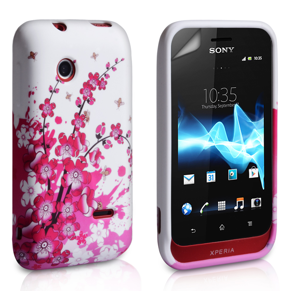 YouSave Accessories Sony Xperia Tipo Floral Bee Silicone Gel Case