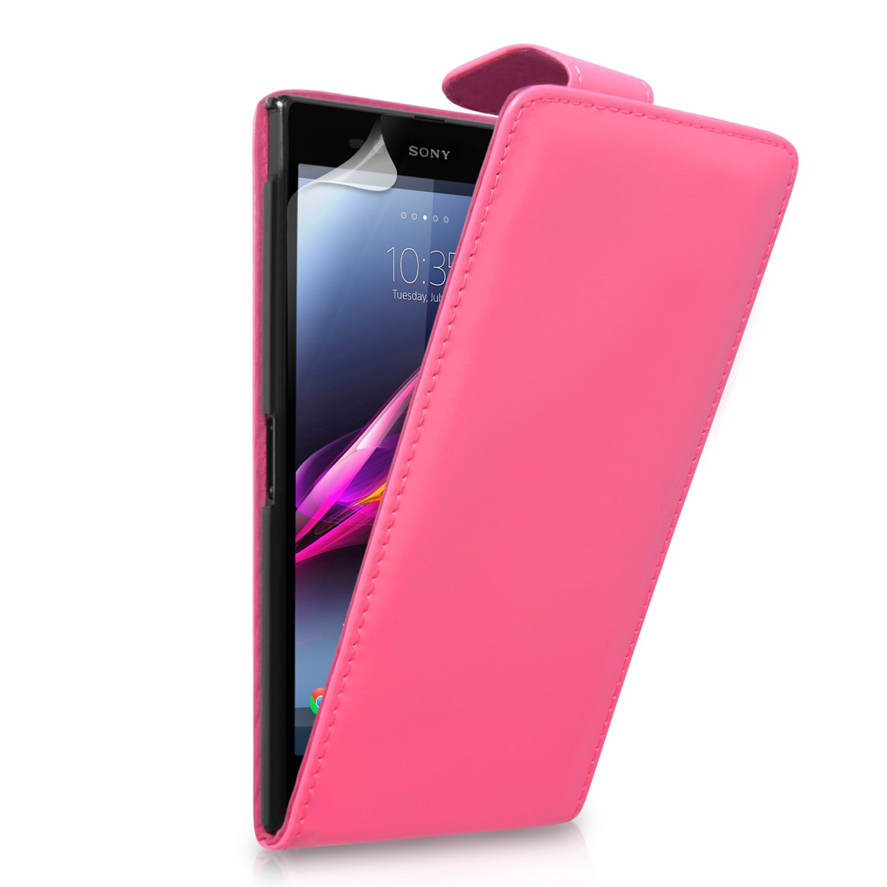 YouSave Sony Xperia Z Ultra Leather Effect Flip Case - Hot Pink