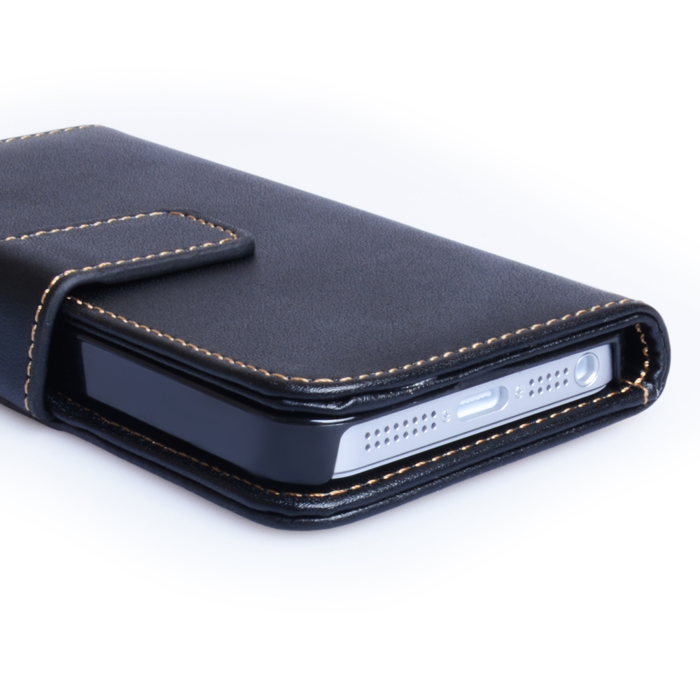 YouSave Accessories iPhone 5 / 5S Leather Effect Wallet Case - Black