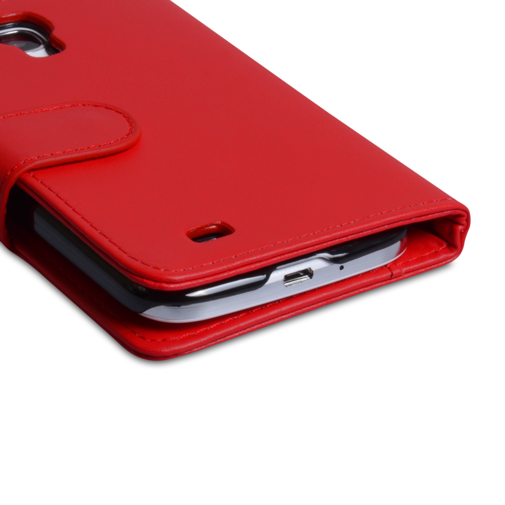 YouSave Accessories Samsung Galaxy S4 Leather Effect Wallet Case - Red