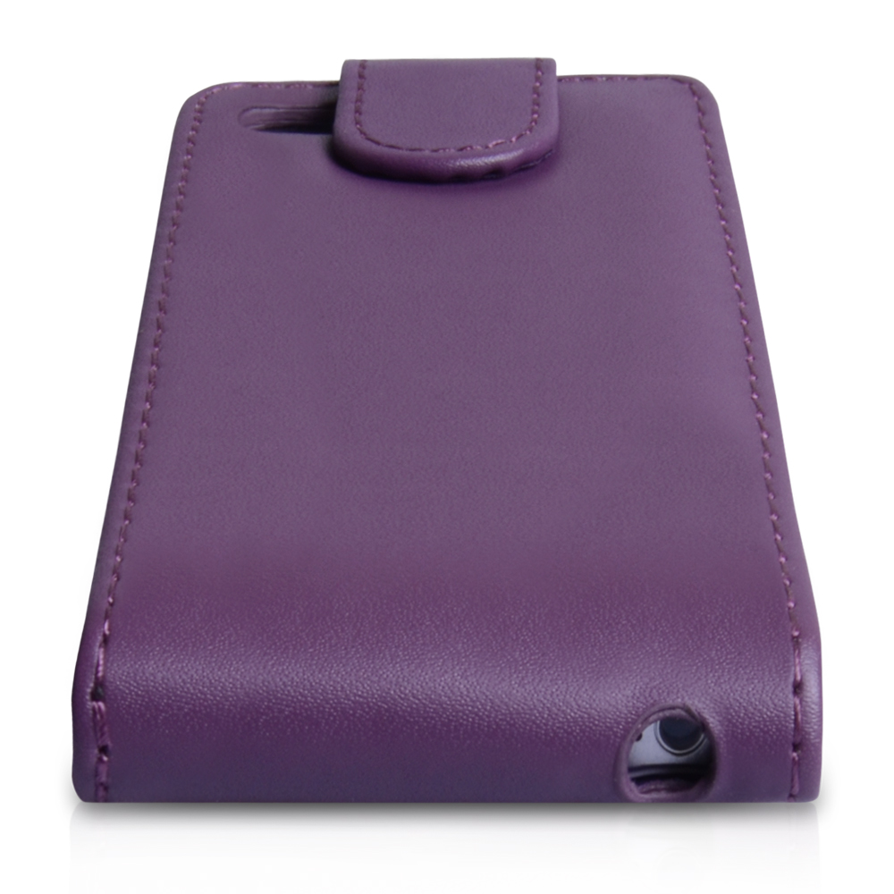 YouSave Accessories iPhone 5 / 5S Purple Leather Effect Flip Case