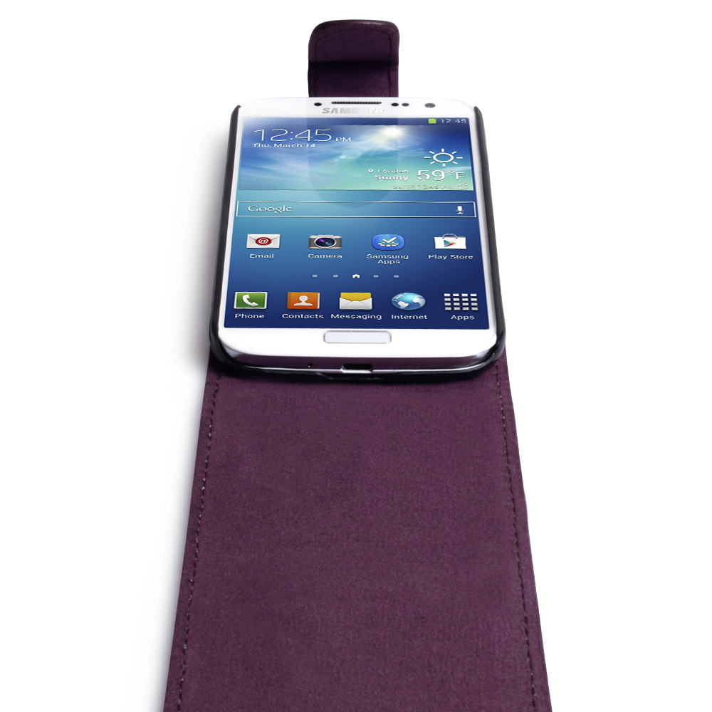 YouSave Samsung Galaxy S4 Leather Effect Flip Case - Purple