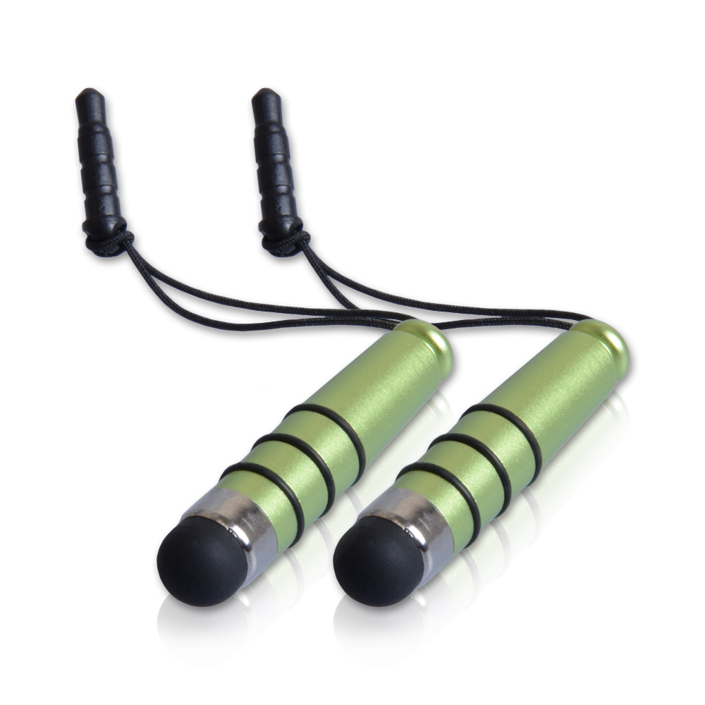 YouSave Accessories Mini Stylus Pen - Green (Twin Pack)