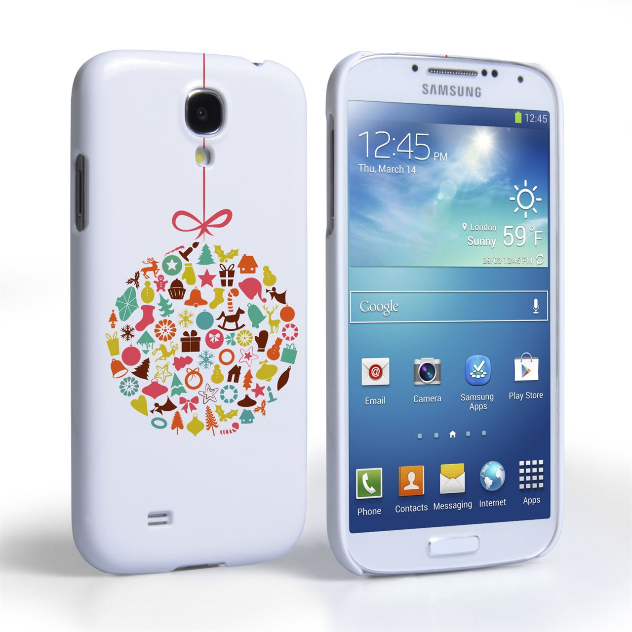 Caseflex Samsung Galaxy S4 Christmas Bauble Decorations Case