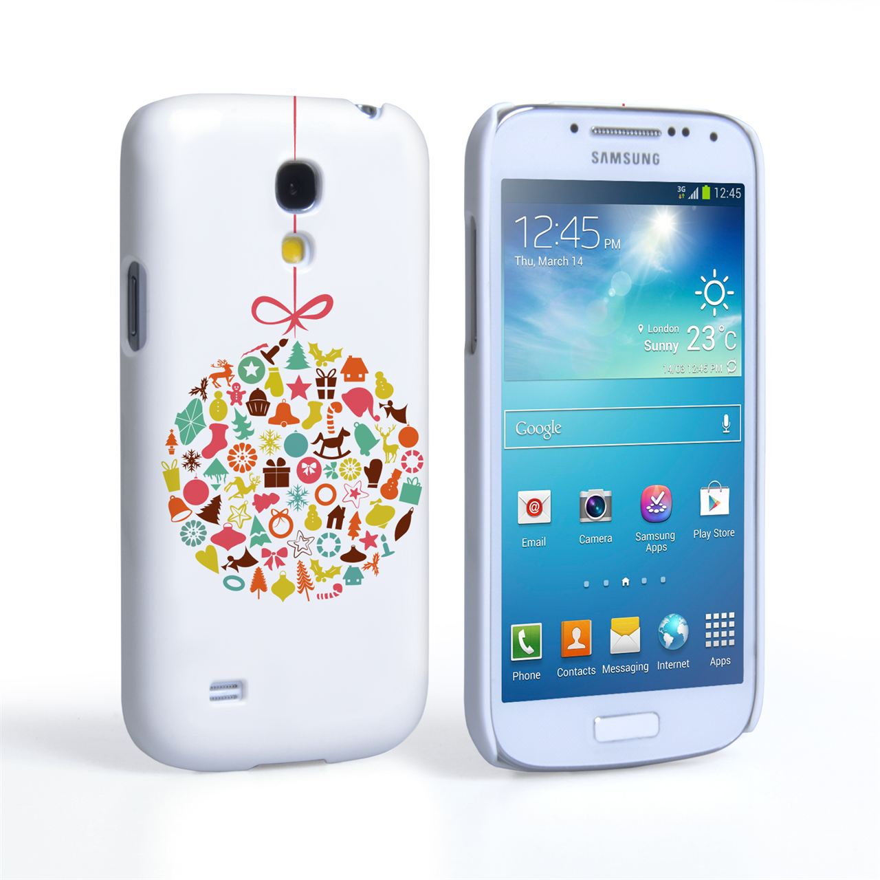 Caseflex Samsung Galaxy S4 Mini Christmas Bauble Decorations Case