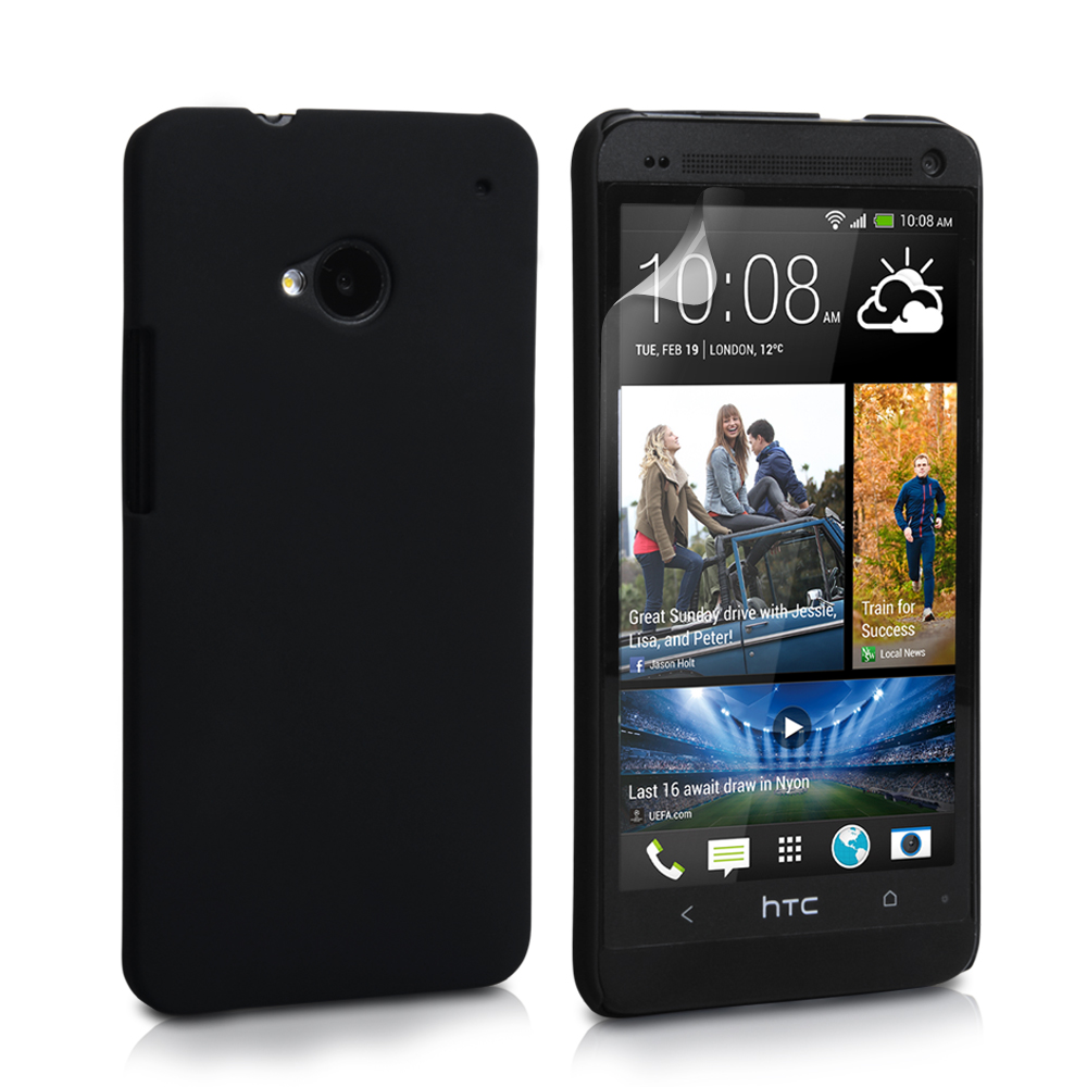 YouSave Accessories HTC One Hard Hybrid Case - Black