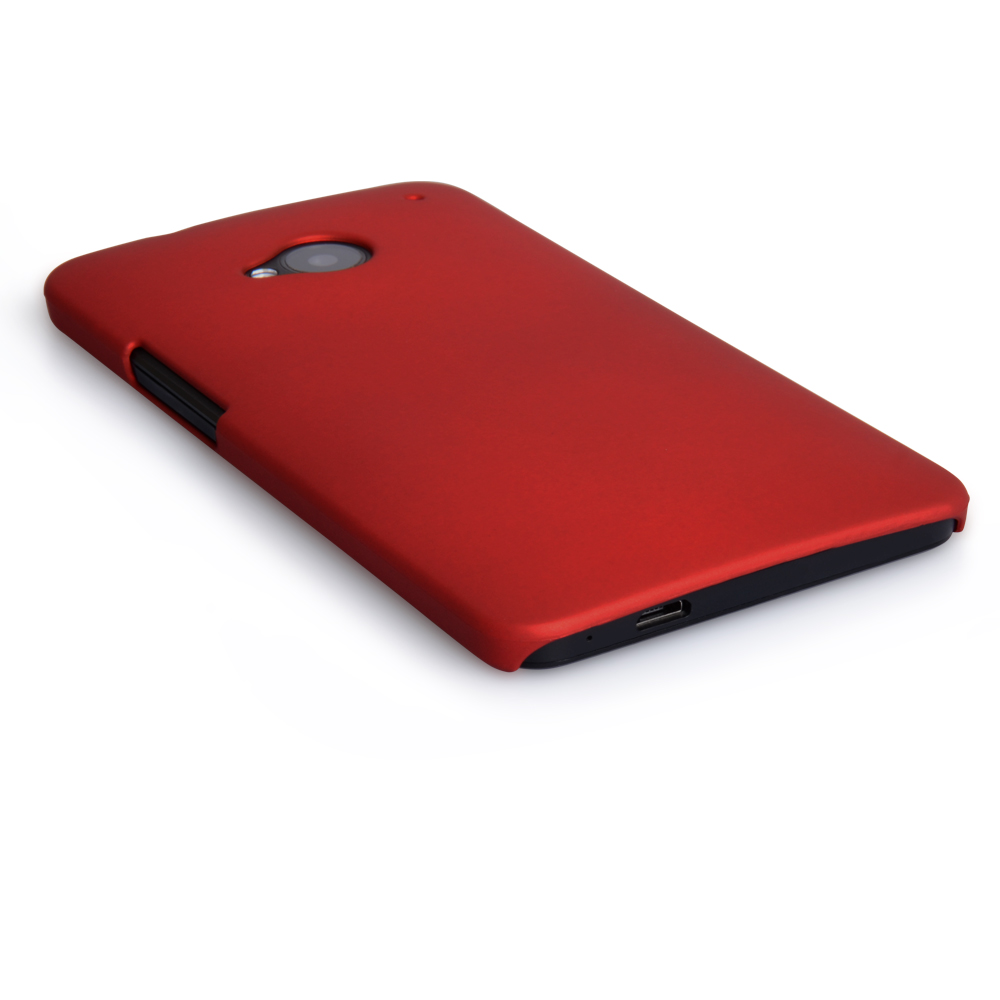 YouSave Accessories HTC One Hard Hybrid Case - Red