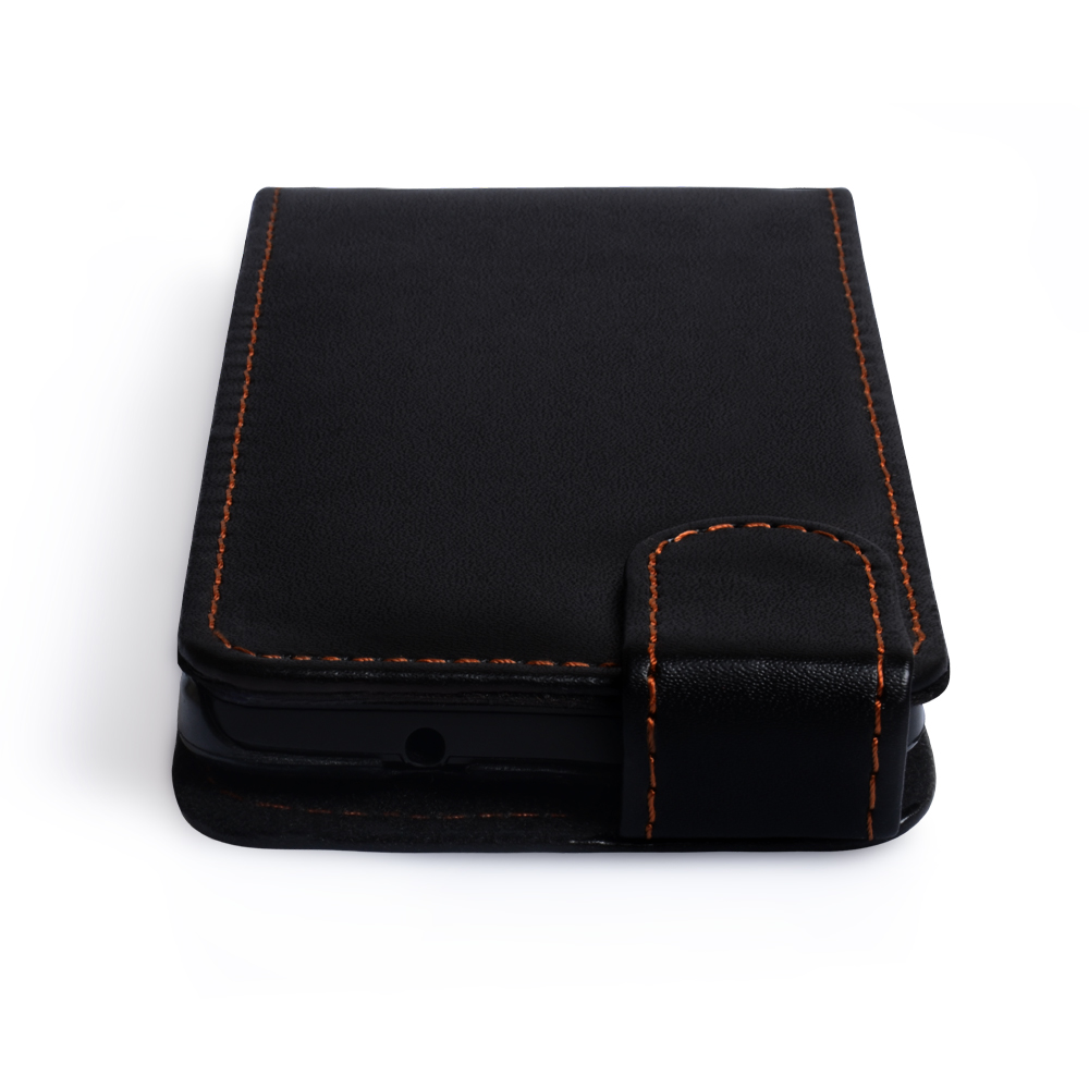 YouSave Accessories HTC One Leather Effect Flip Case - Black