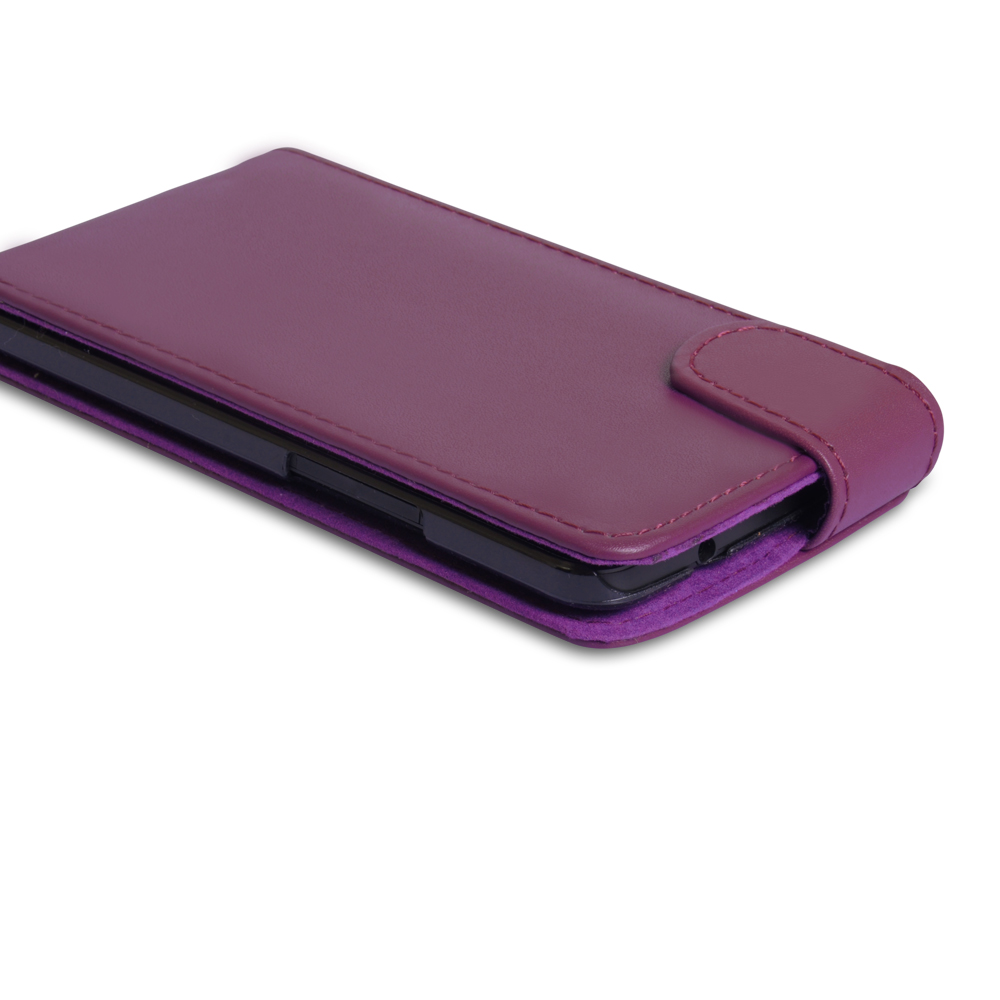 YouSave Accessories HTC One Leather Effect Flip Case - Purple