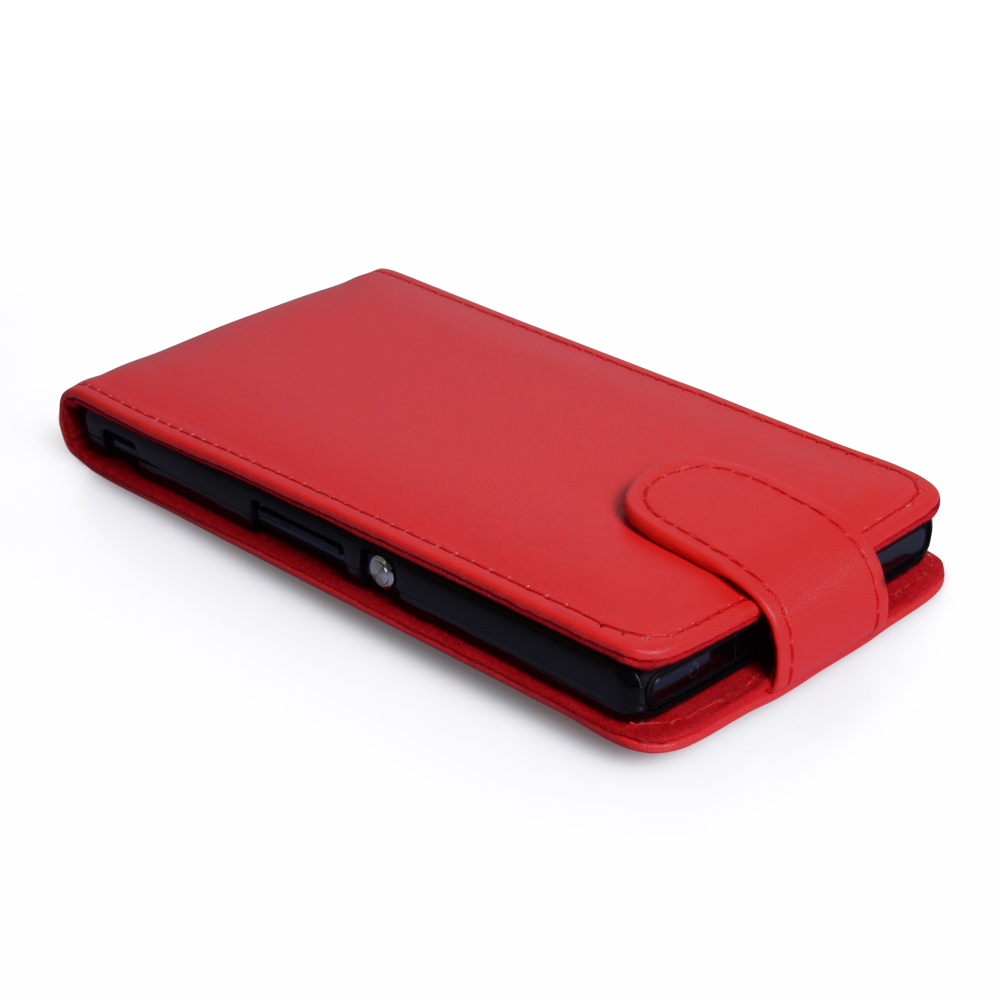 YouSave Accessories Sony Xperia Z Leather Effect Flip Case - Red
