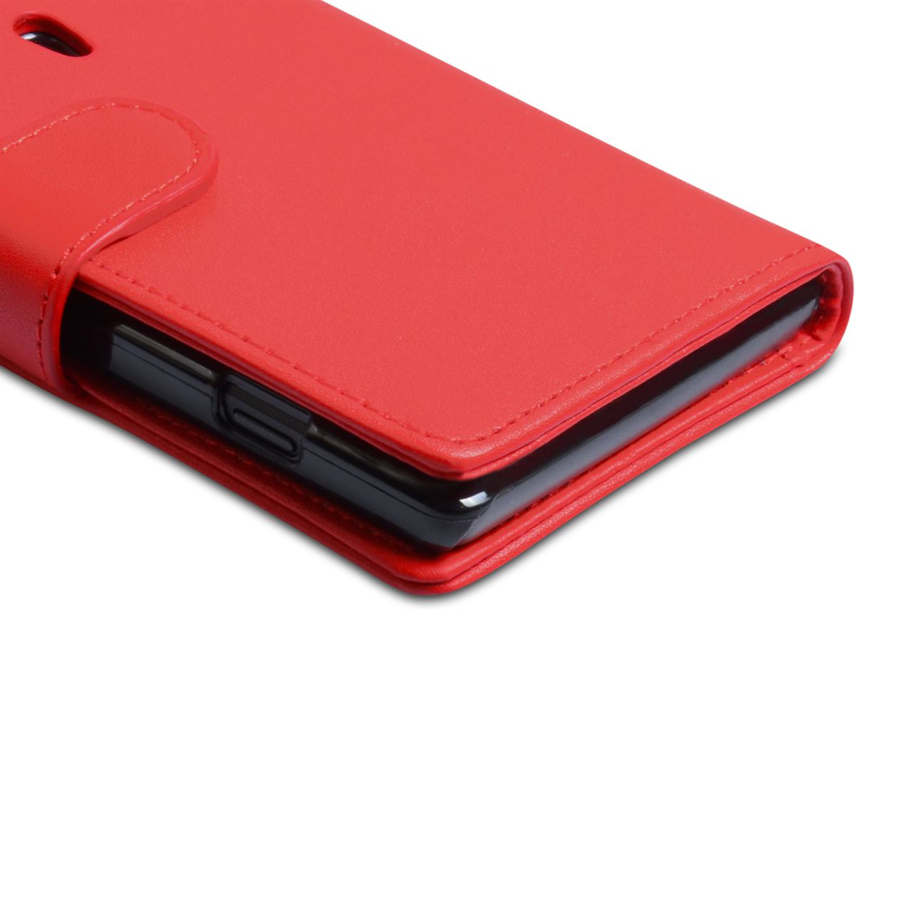 YouSave Accessories Sony Xperia SP Leather-Effect Wallet Case - Red