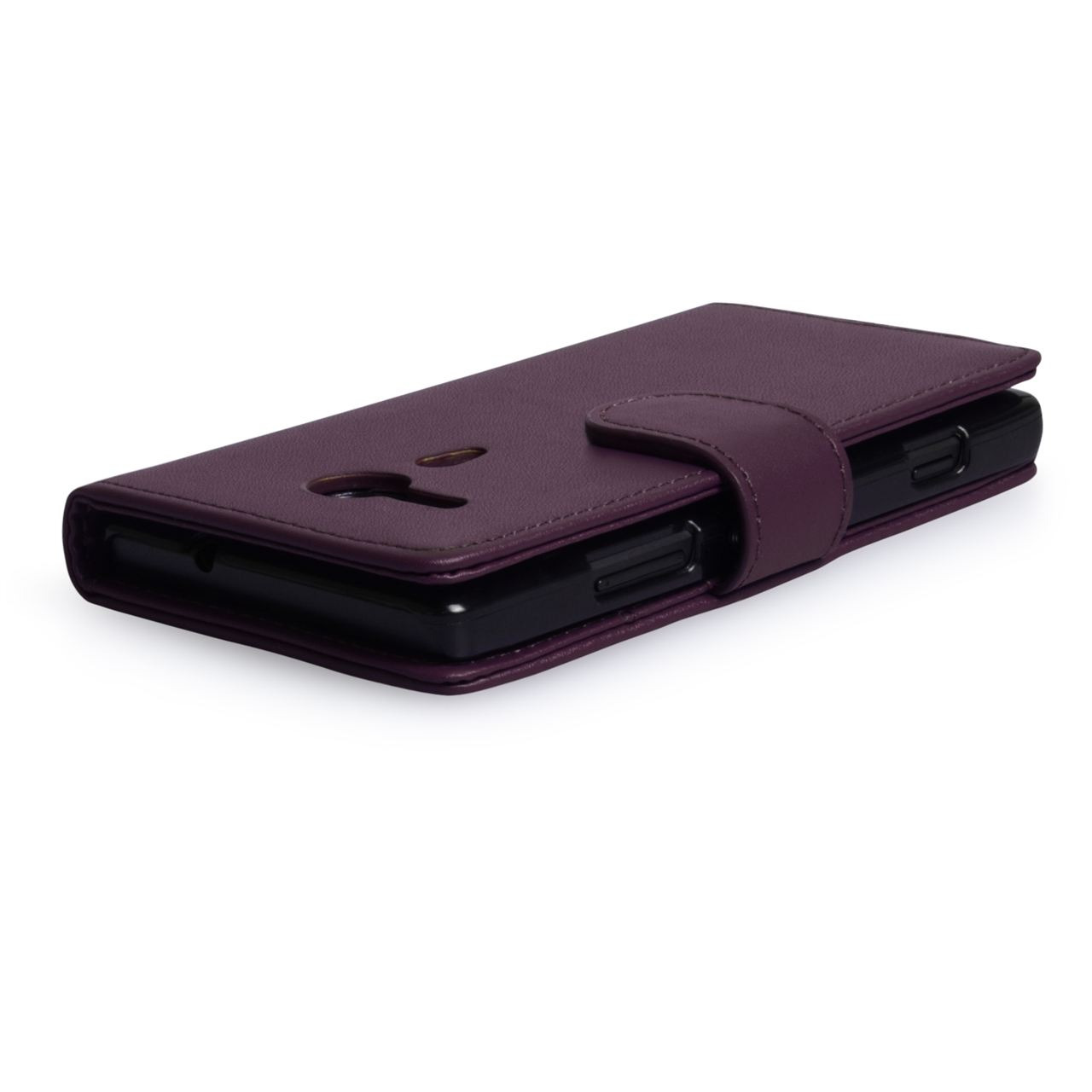 YouSave Accessories Sony Xperia SP Leather-Effect Wallet Case - Purple