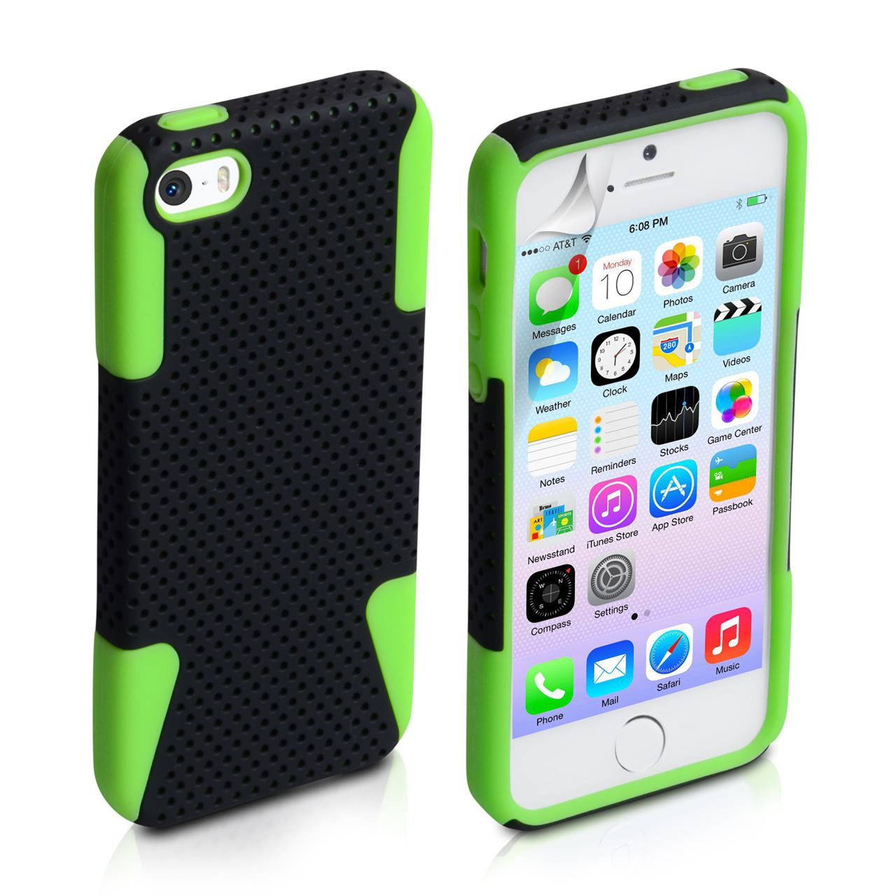 YouSave Accessories iPhone 5 / 5S Mesh Combo Case - Green