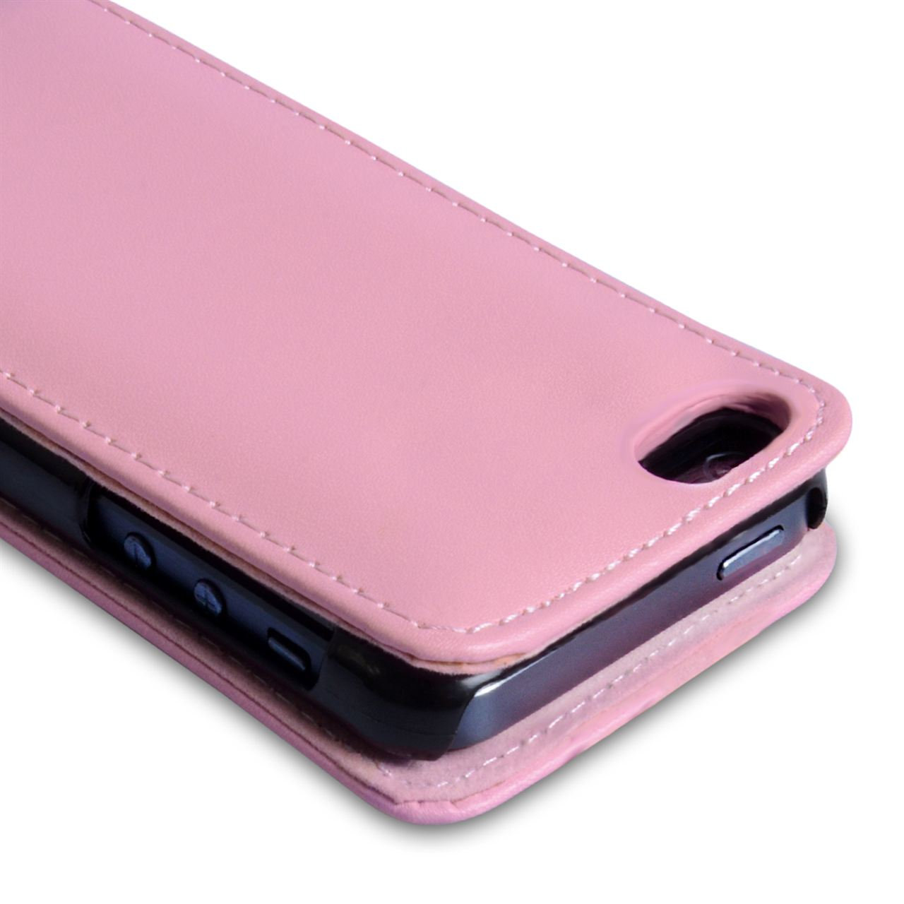 YouSave Accessories iPhone 5C Leather Effect Flip Case - Baby Pink