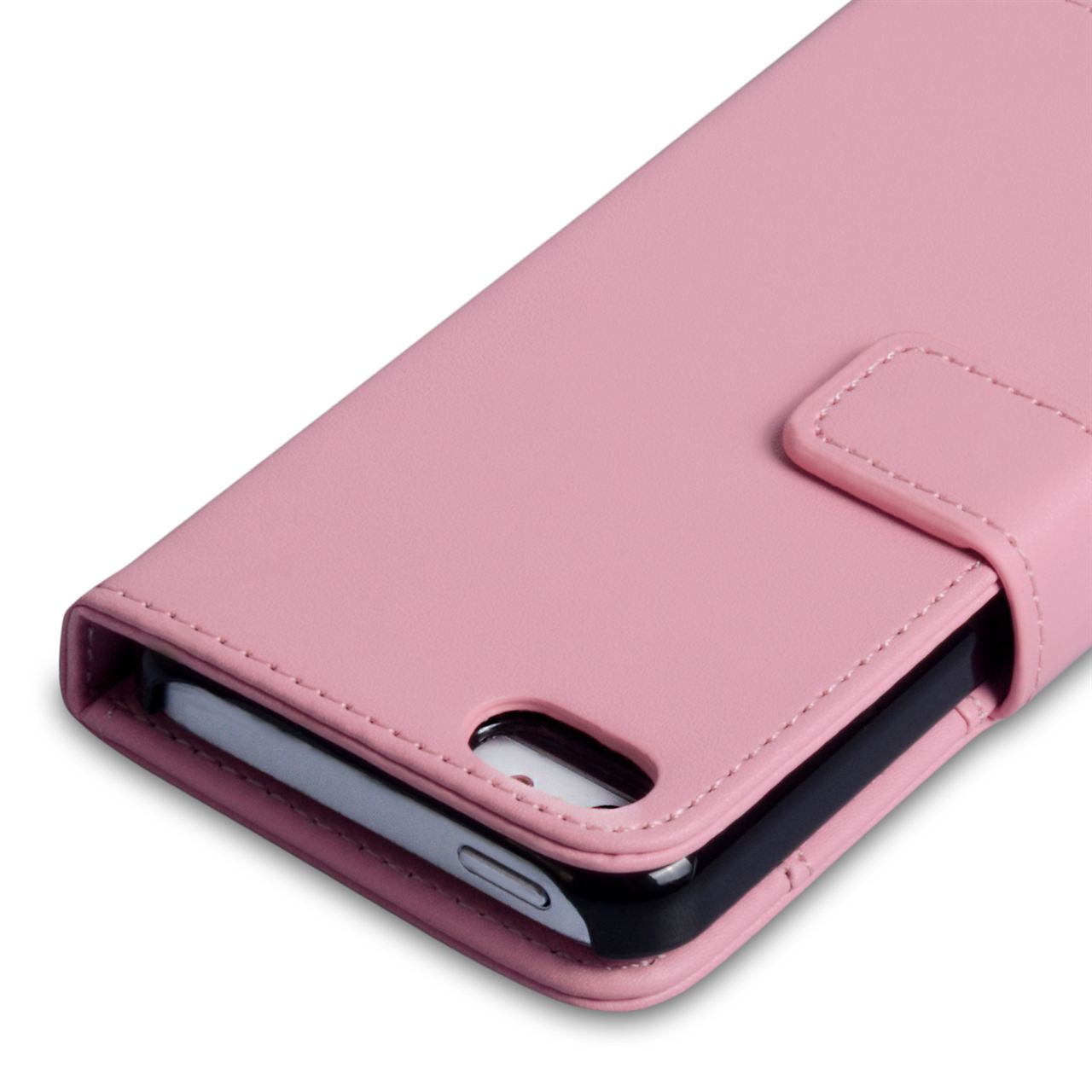YouSave Accessories iPhone 5C Leather Effect Wallet - Baby Pink