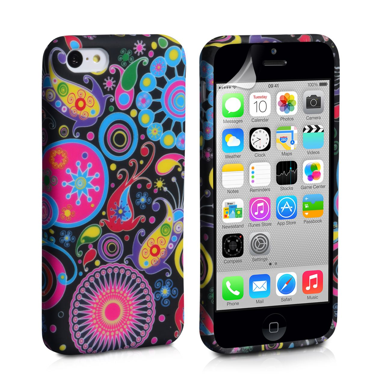 YouSave Accessories iPhone 5C Jellyfish Silicone Gel Case