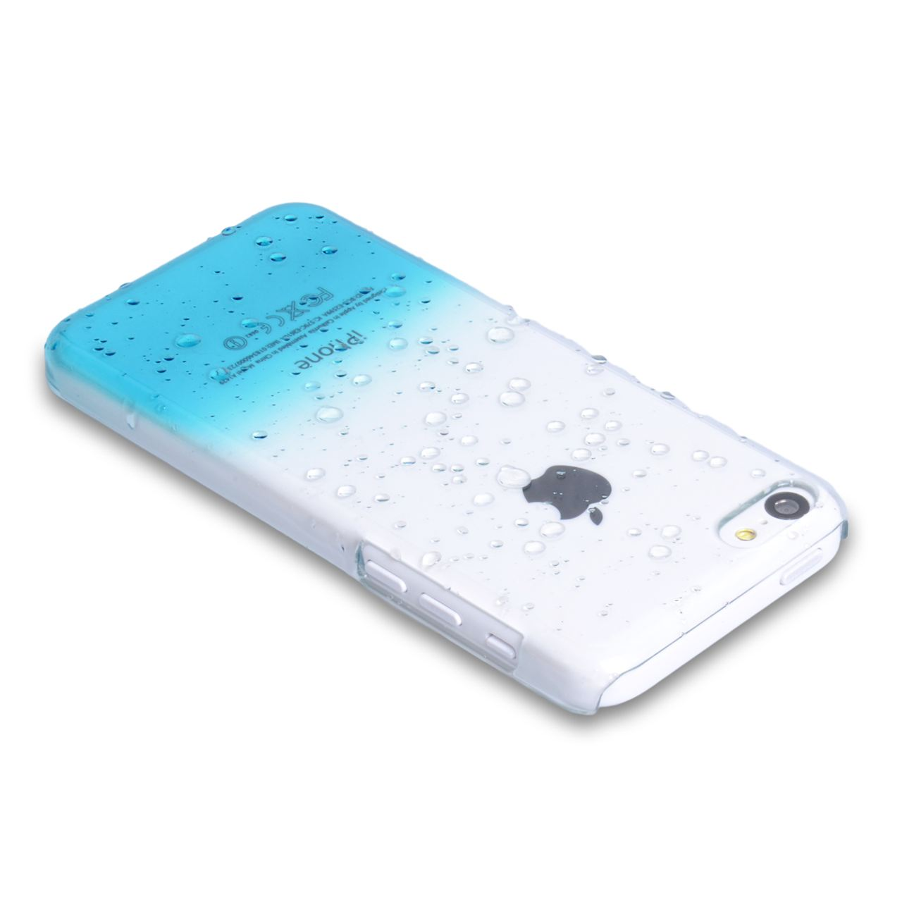 YouSave Accessories iPhone 5C Raindrop Hard Case - Blue