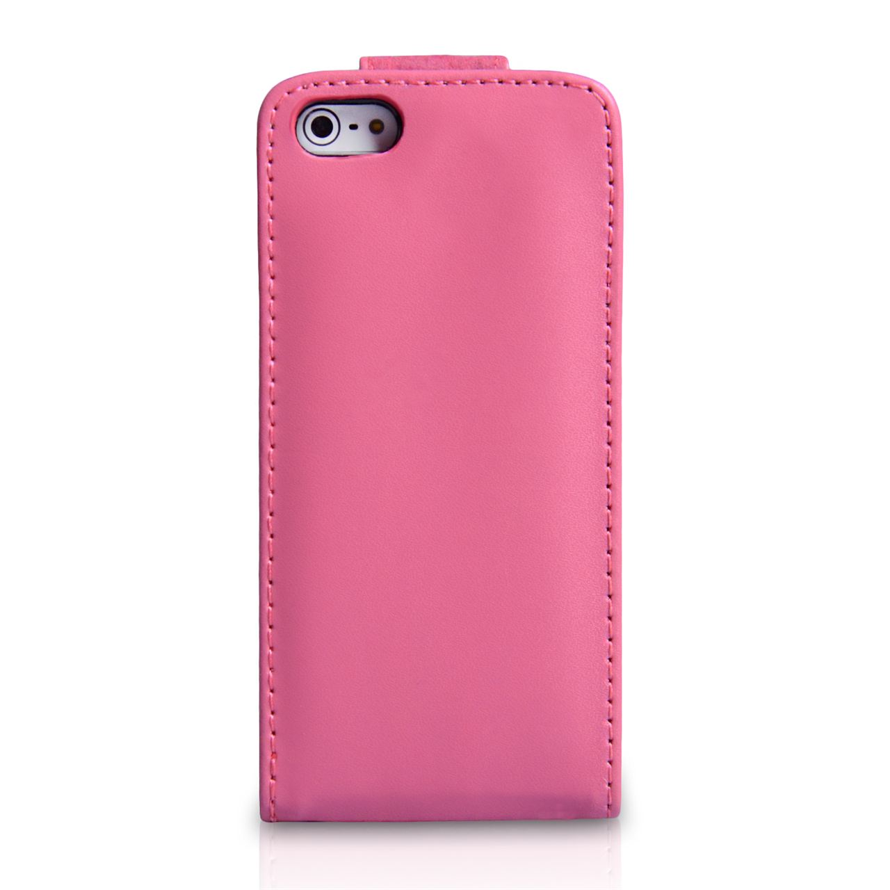 YouSave Accessories iPhone 5C Leather Effect Flip Case - Hot Pink