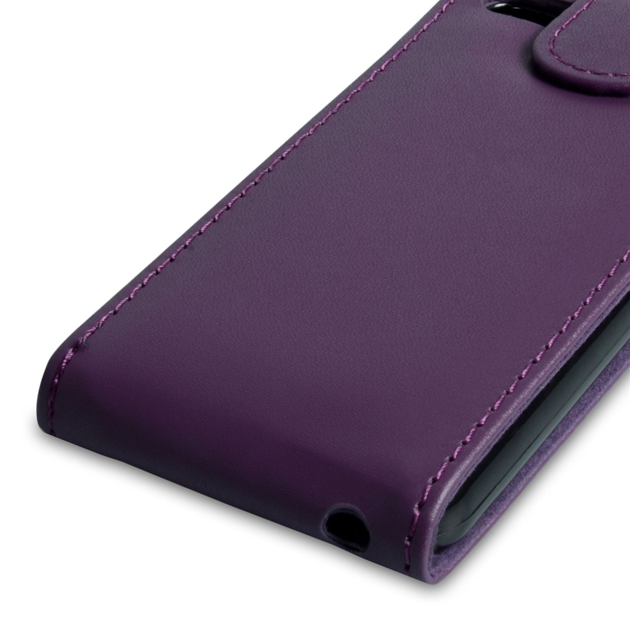 YouSave Accessories iPhone 5C Leather Effect Flip Case - Purple