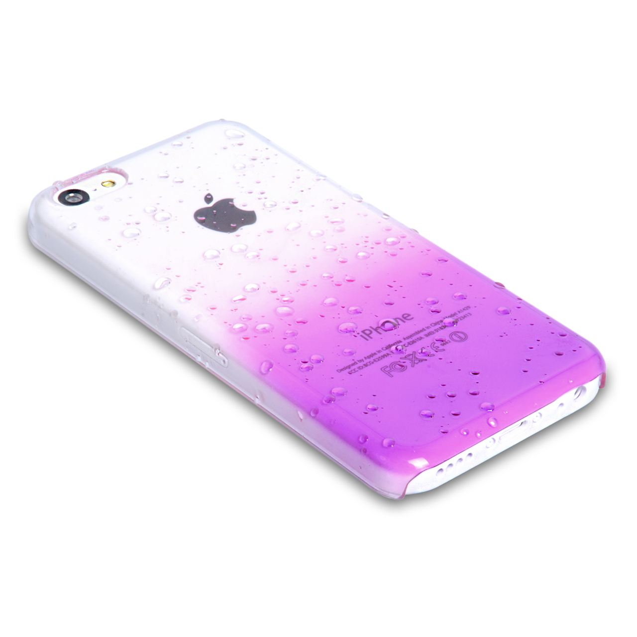 YouSave Accessories iPhone 5C Raindrop Hard Case - Purple