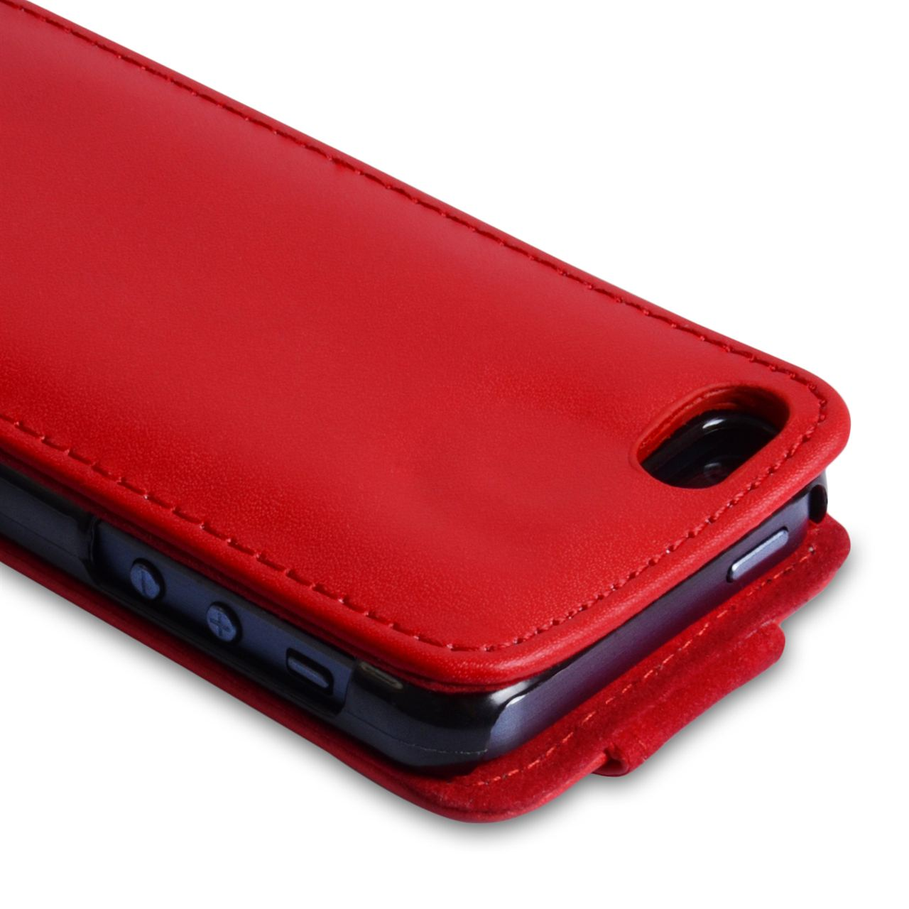 YouSave Accessories iPhone 5C Leather Effect Flip Case - Red
