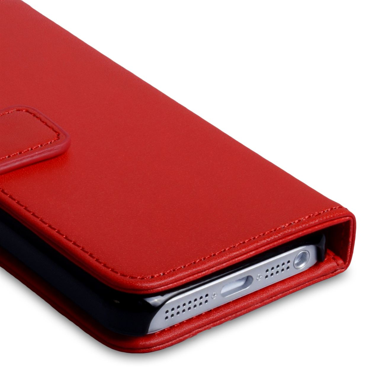 YouSave Accessories iPhone 5C Leather Effect Wallet - Red