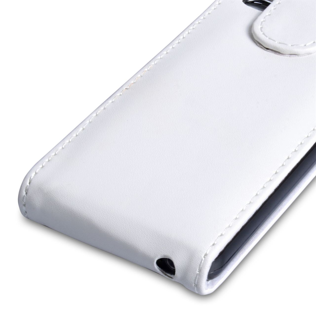 YouSave Accessories iPhone 5C Leather Effect Flip Case - White