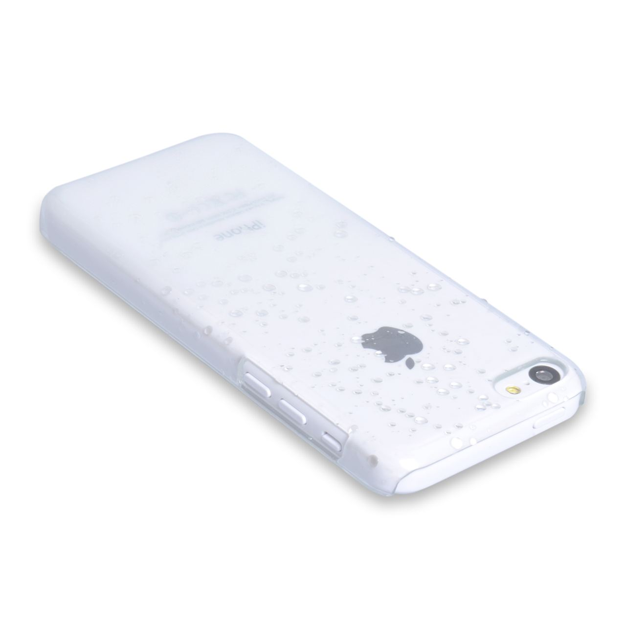 YouSave Accessories iPhone 5C Raindrop Hard Case - White