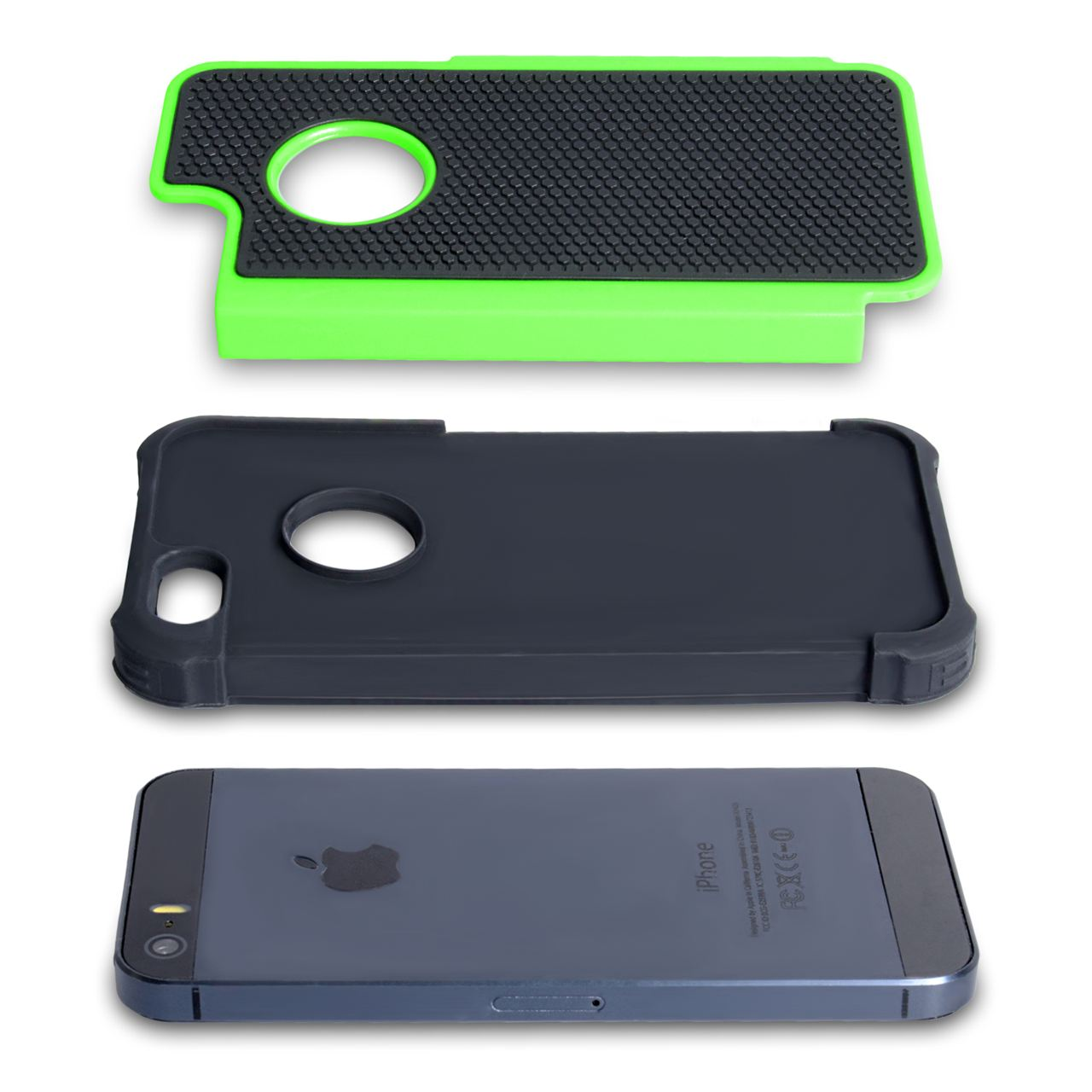 YouSave Accessories iPhone 5 / 5S Grip Combo Case - Green