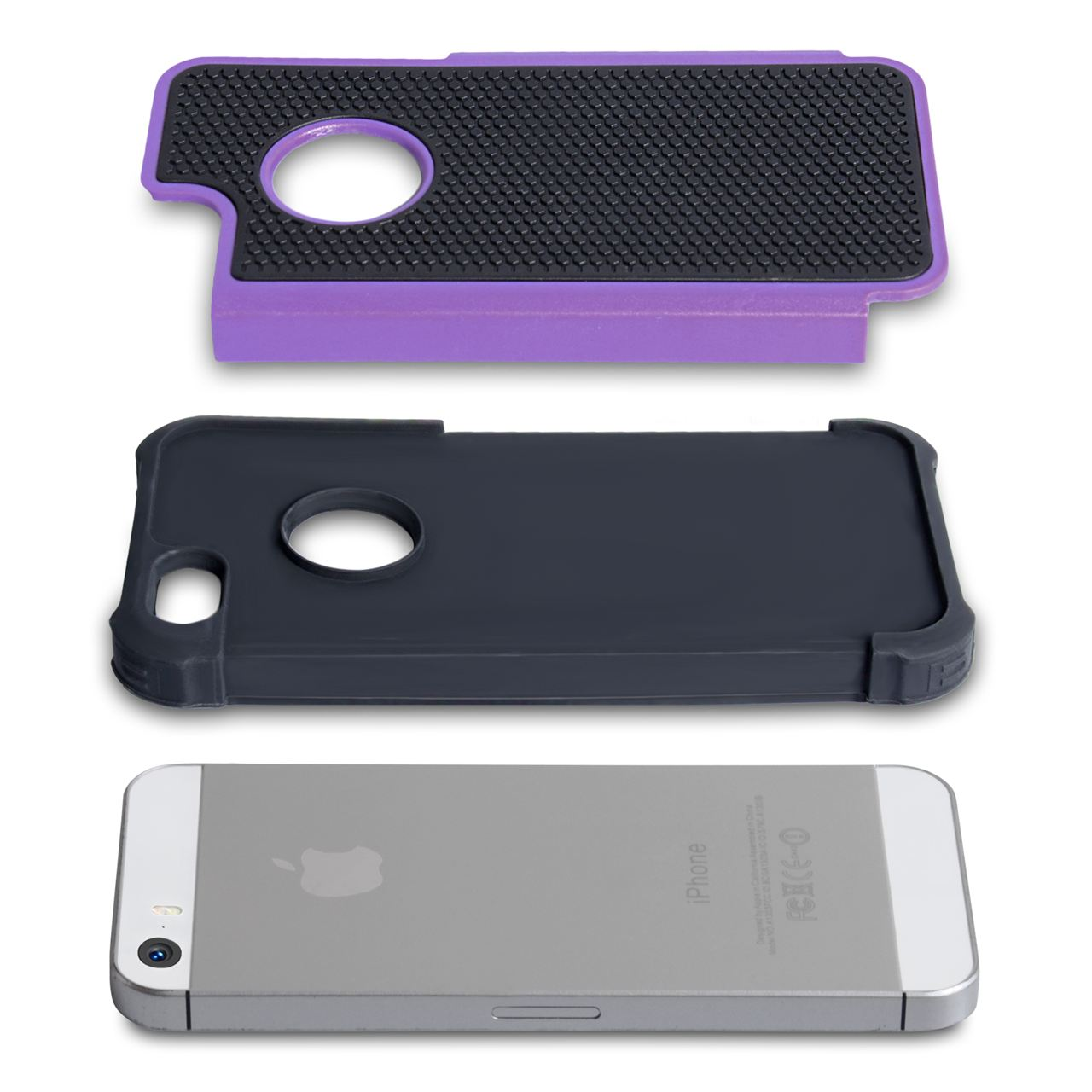 YouSave Accessories iPhone 5 / 5S Grip Combo Case - Purple