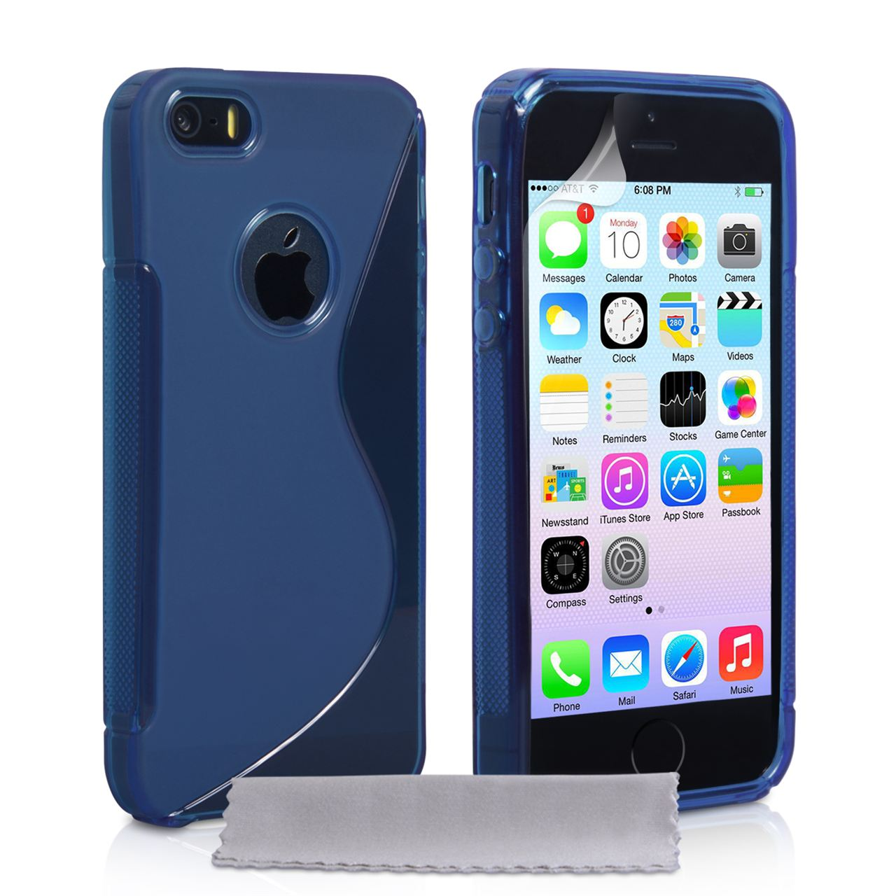 iphone case 5s caseflex iphone 5 5s caseflex gel blue mobi 11708