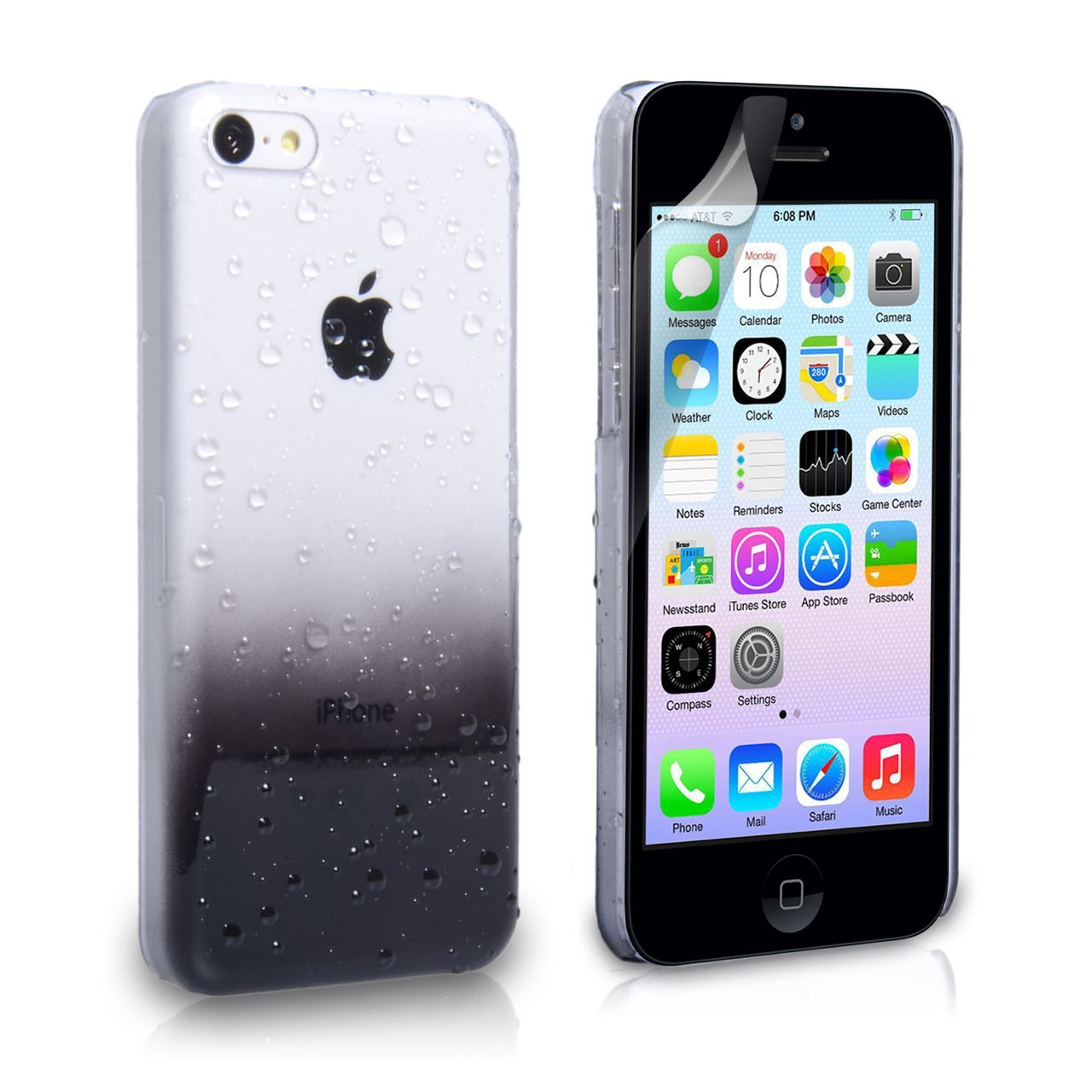 sports shoes 3c700 37e06 YouSave iPhone 5C Raindrop Hard Case - Black | Mobile M