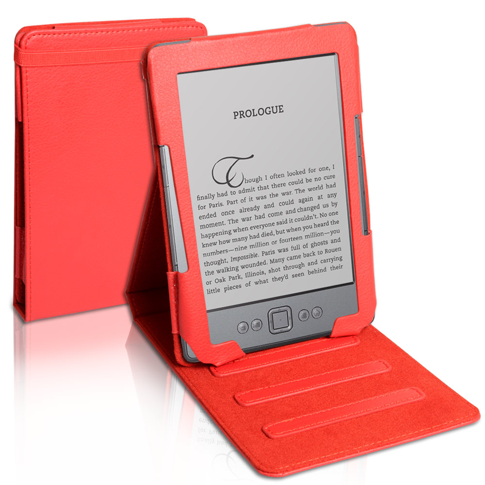 Caseflex Kindle 4 Executive Stand Case - Red