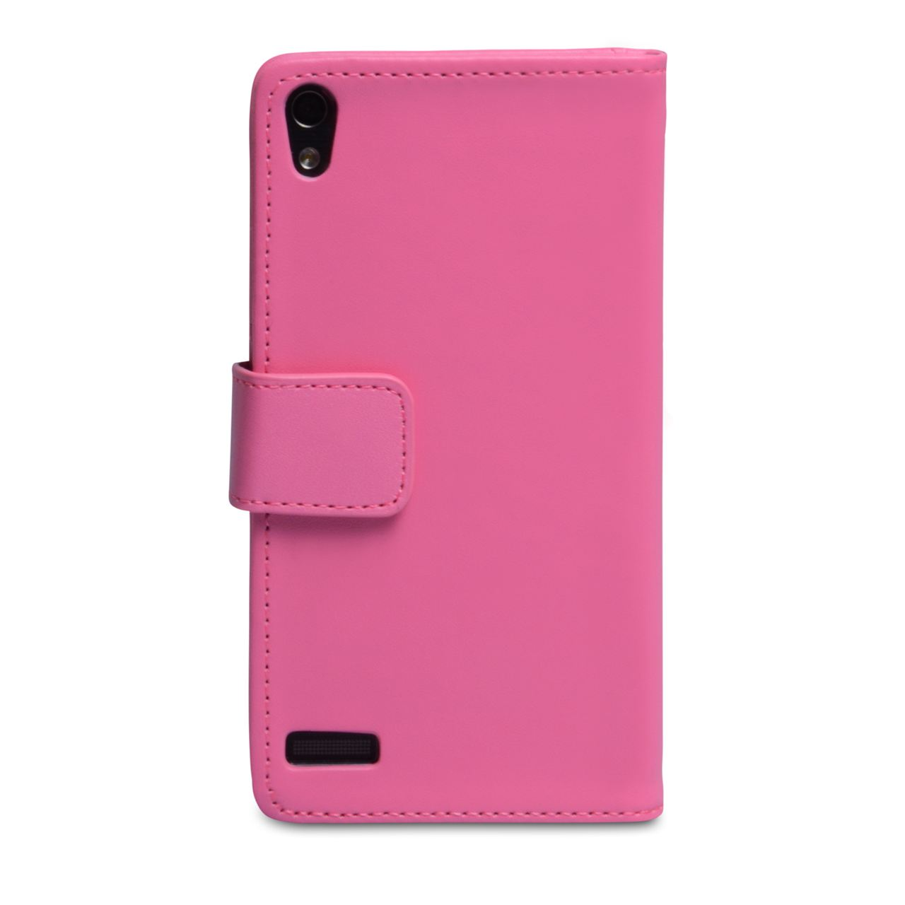 YouSave Huawei Ascend P6 Leather-Effect Wallet Case - Hot Pink