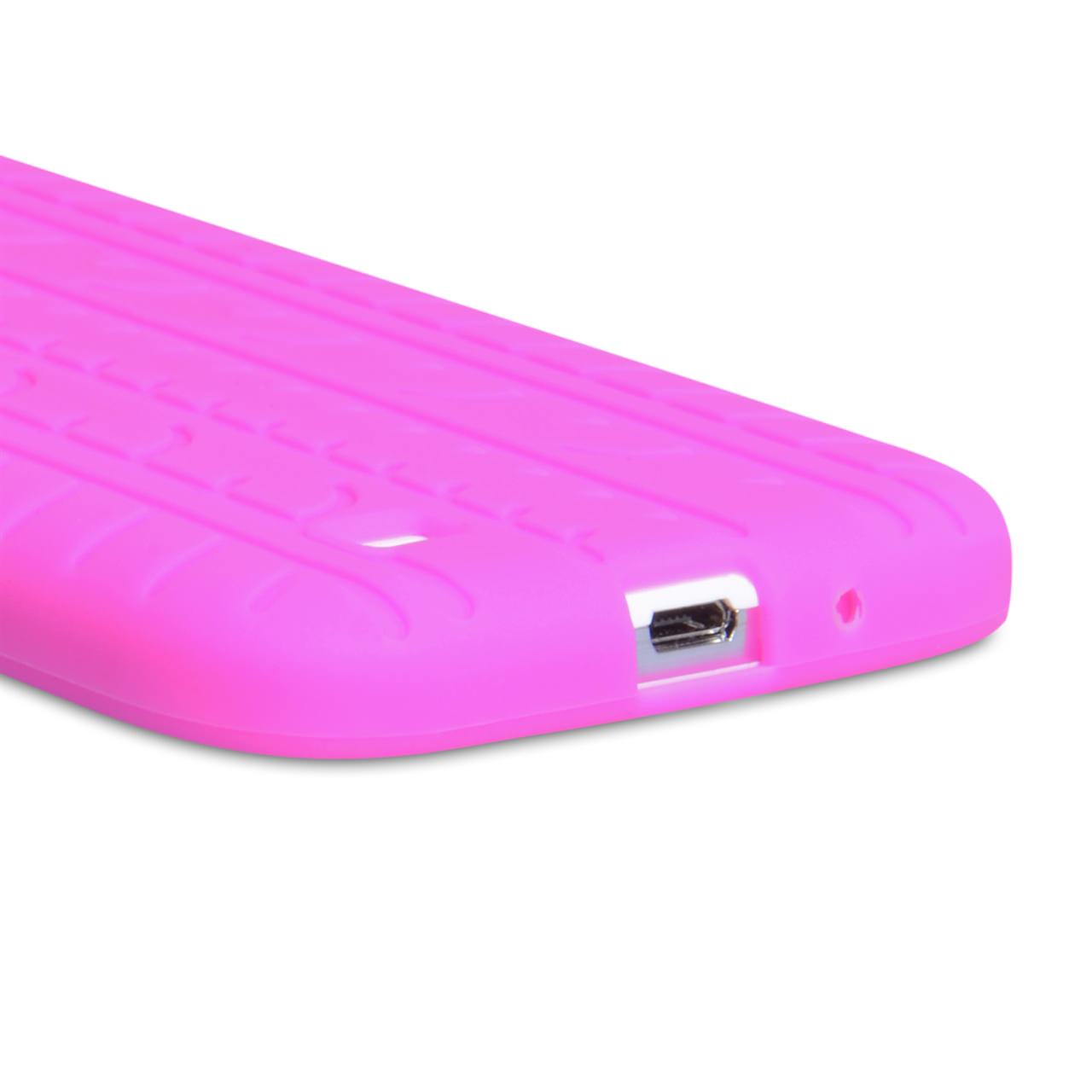 YouSave Accessories Samsung Galaxy S4 Tyre Gel Case - Hot Pink