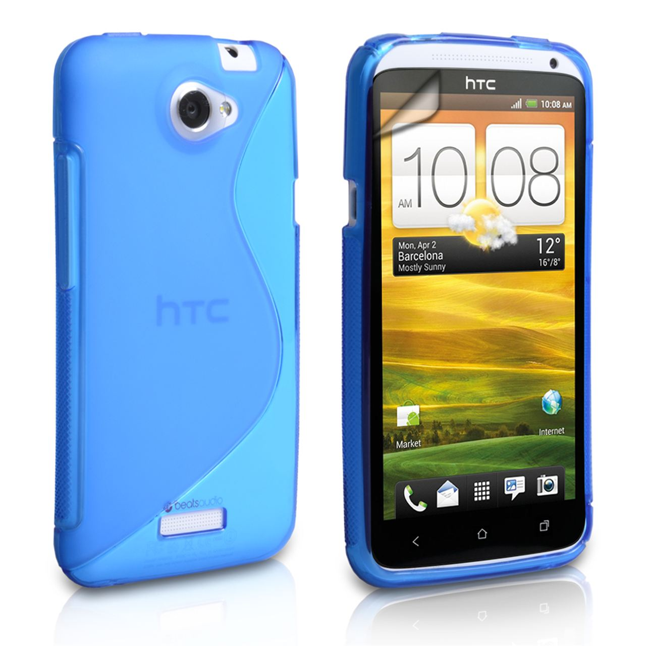 Caseflex HTC One X Silicone Gel S-Line Case - Blue