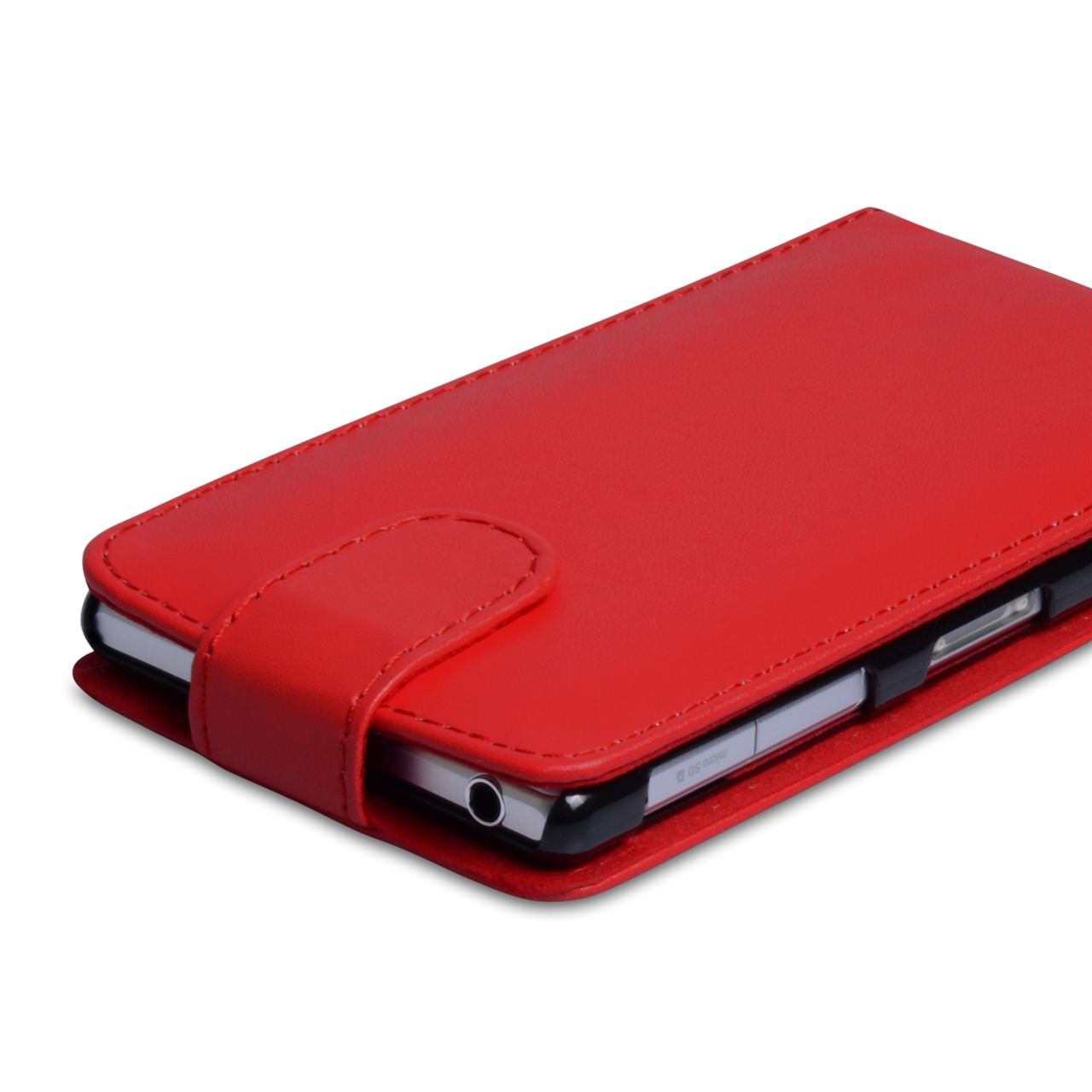 YouSave Accessories Sony Xperia Z1 Leather Effect Flip Case - Red