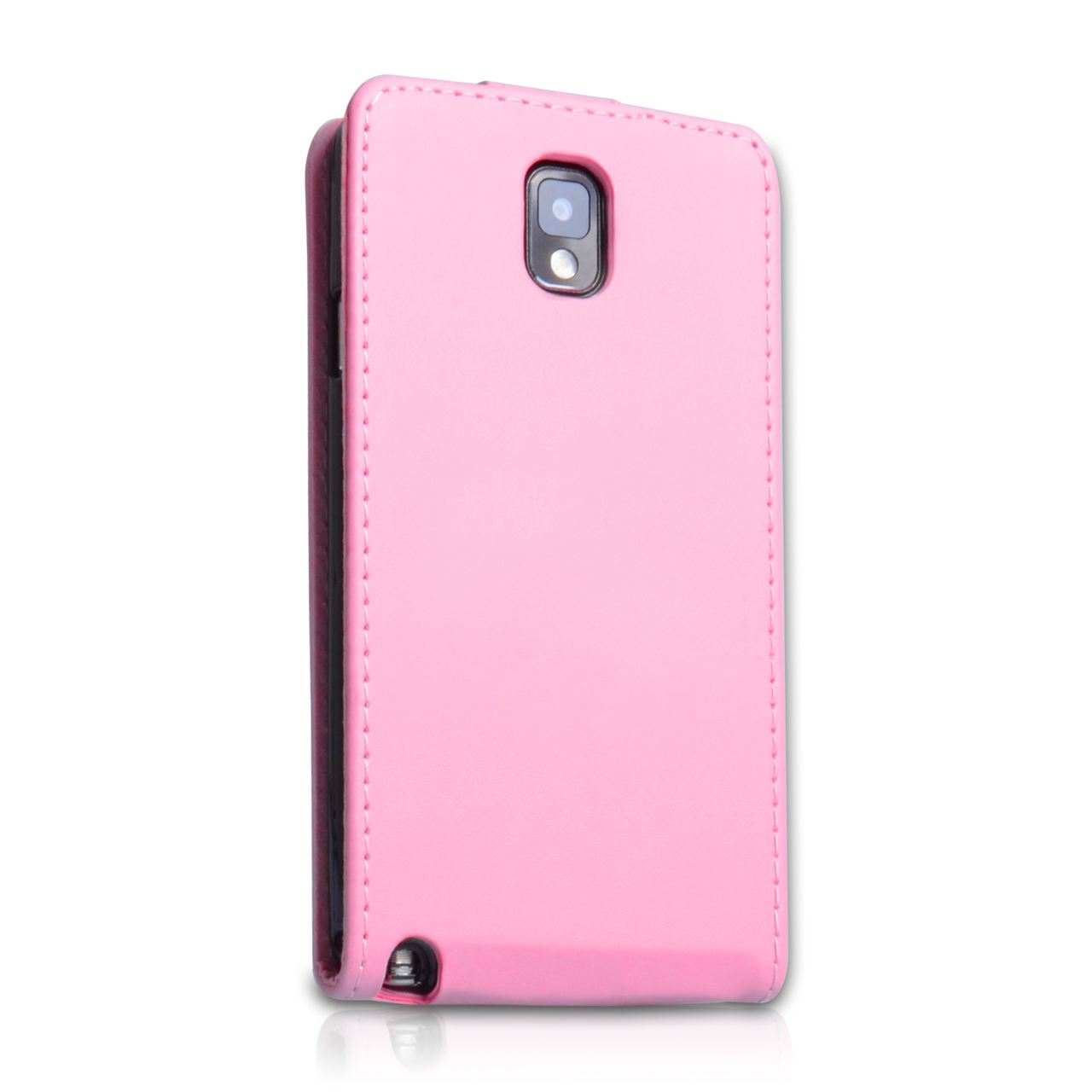 YouSave Samsung Galaxy Note 3 Leather Effect Flip Case - Baby Pink