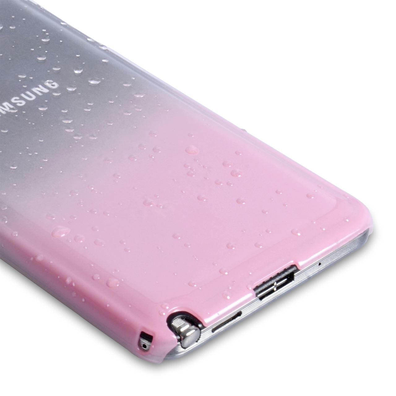 YouSave Samsung Galaxy Note 3 Waterdrop Hard Case - Baby Pink