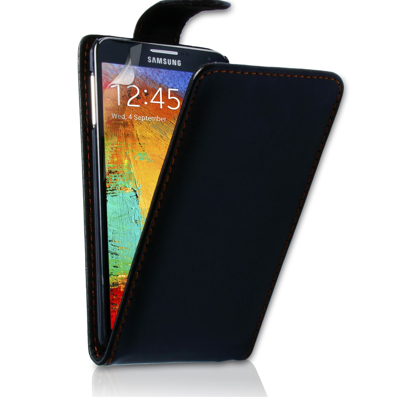 YouSave Samsung Galaxy Note 3 Leather Effect Flip Case - Black