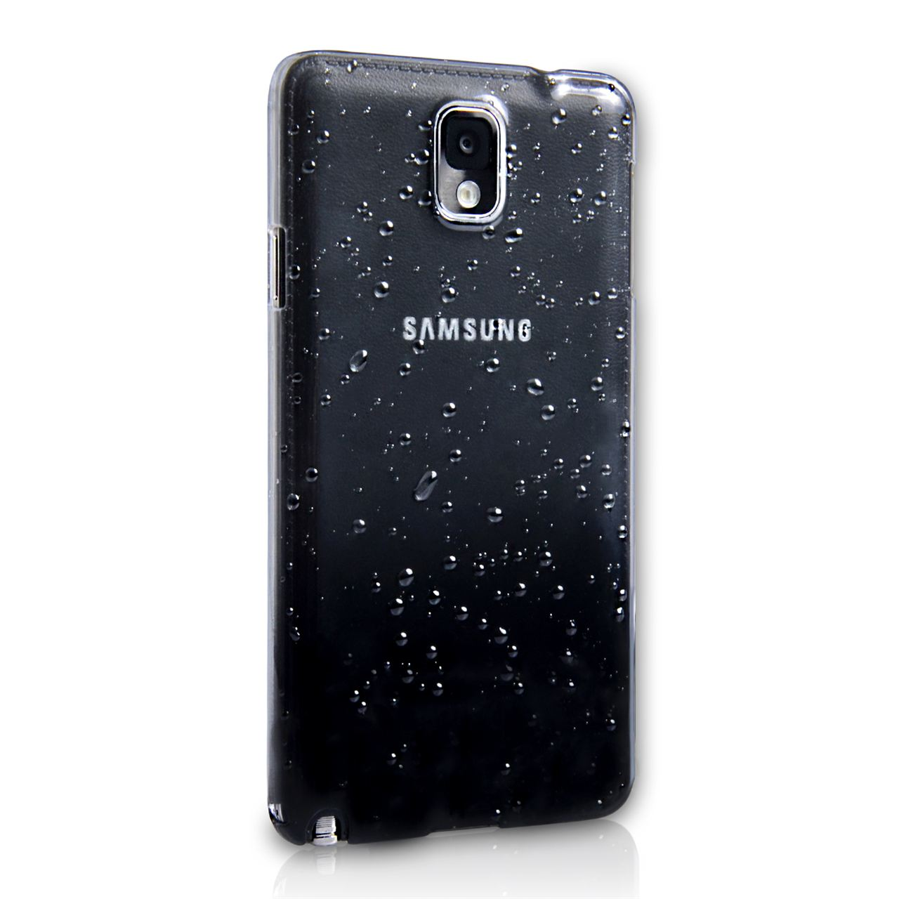 YouSave Accessories Samsung Galaxy Note 3 Waterdrop Hard Case - Black