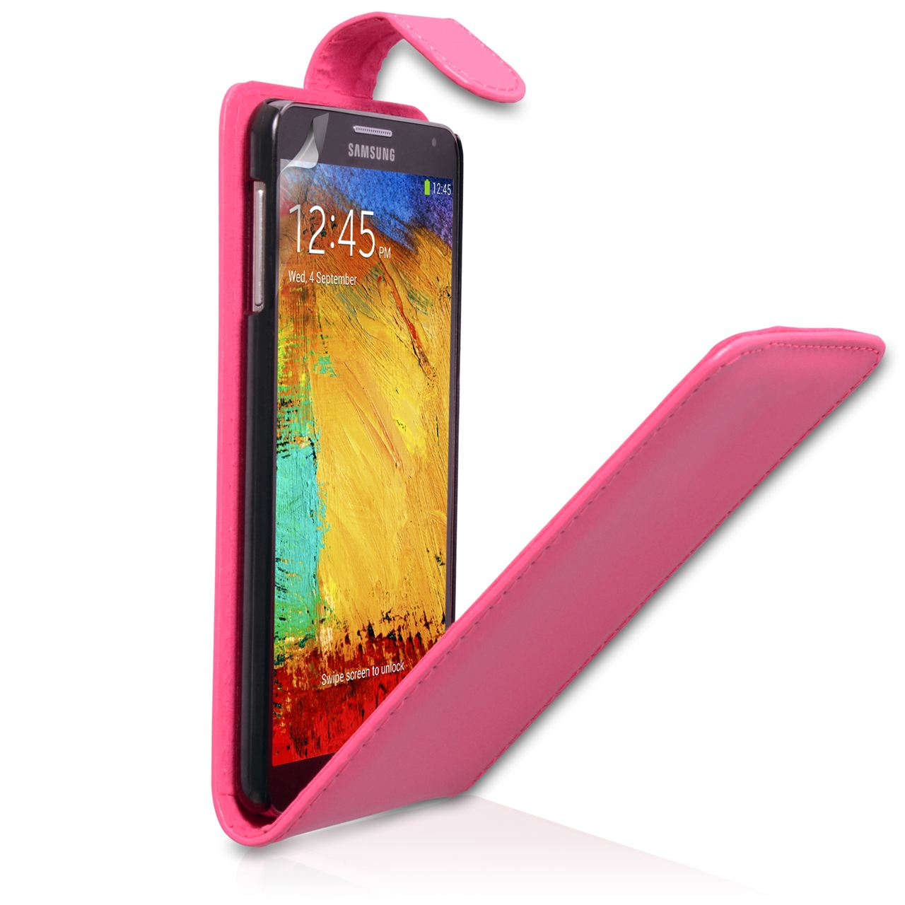YouSave Samsung Galaxy Note 3 Leather Effect Flip Case - Hot Pink