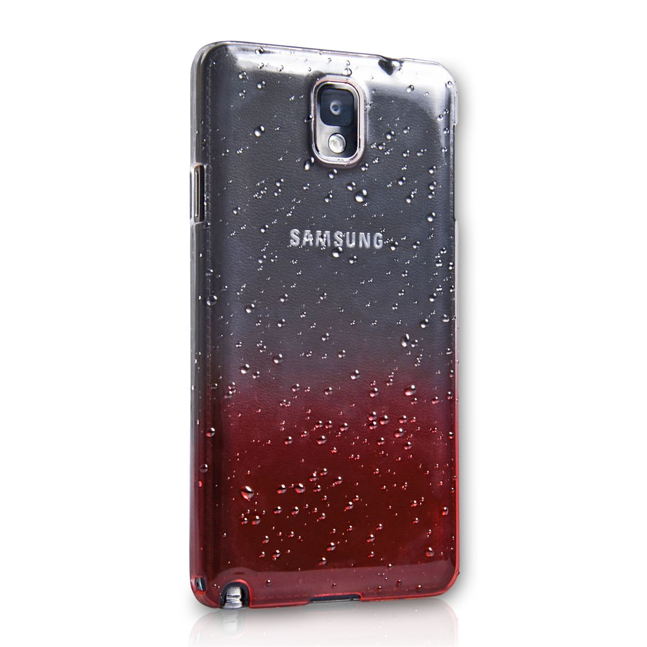 YouSave Accessories Samsung Galaxy Note 3 Waterdrop Hard Case - Red