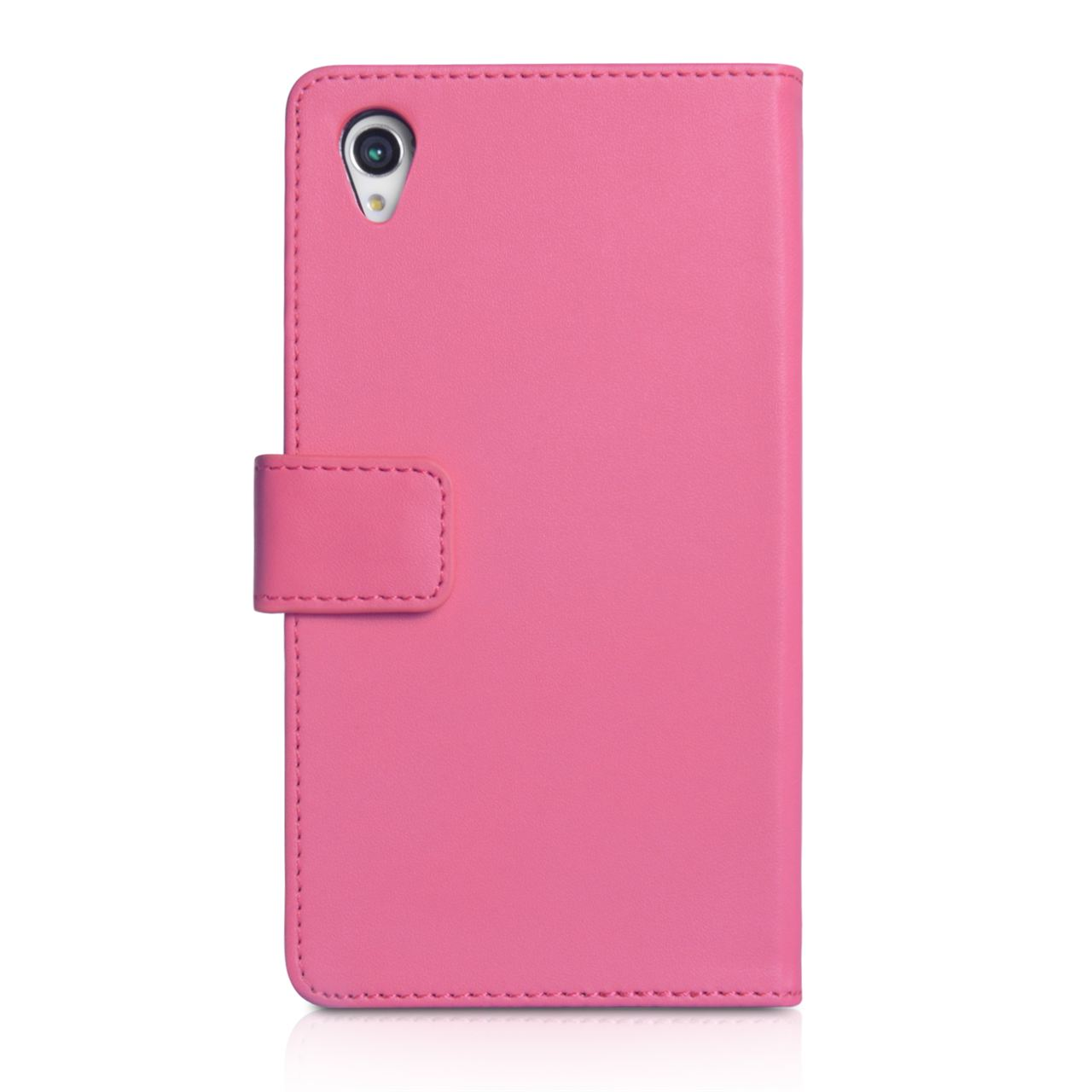YouSave Accessories Sony Xperia Z1 Leather Effect Wallet - Hot Pink