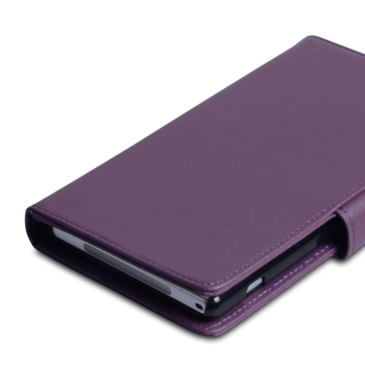 YouSave Accessories Sony Xperia Z1 Leather Effect Wallet - Purple