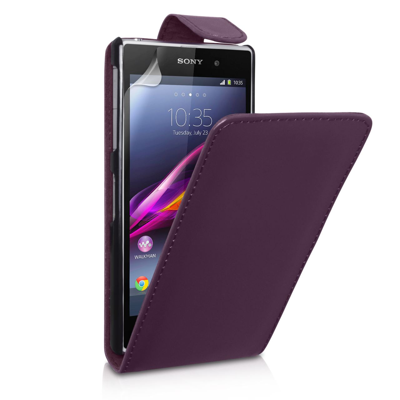 YouSave Accessories Sony Xperia Z1 Leather Effect Flip Case - Purple