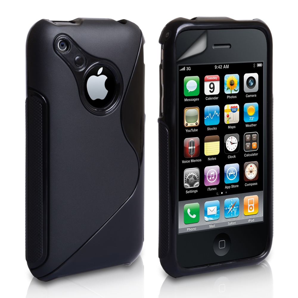Caseflex iPhone 3G / 3GS S-Line Silicone Gel Case - Black