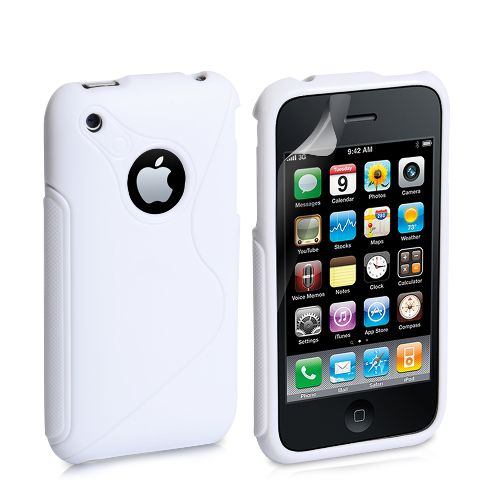 Caseflex iPhone 3G / 3GS S-Line Gel Case - White